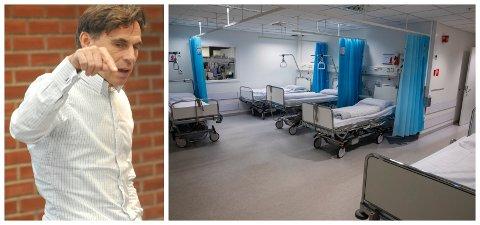 BLADET FRA MUNNEN: Ove Talsnes, mangeårig ansattrepresentant i Sykehus Innlandets styre, sier lokale opportunistiske hensyn ikke må få overstyre det absolutt nødvendige i å få på plass et hovedsykehus og en framtidsrettet struktur.