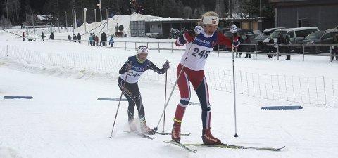 Gode resultater: Maja Kjærås Moland (t.h.) fra Stokke IL og Ingrid Bergene Aabrekk fra IL Runar gjorde det begge godt i helgas skirenn i Oslo. Arkivfoto; Privat