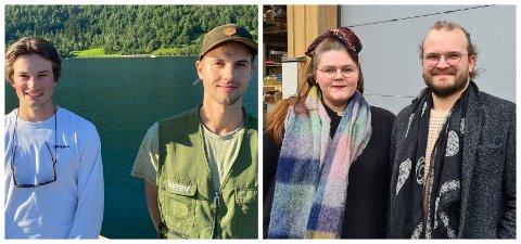 I SVING: Mons Johan Hoel  og Viljar Nikolai Brekke har starta nytt firma. Det same har Mariell Øyre og Jostein Avdem Fretland.