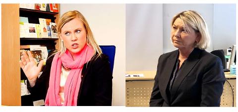 IKKE IMPONERT: Lene Vågslid (Ap), leder av justiskomiteen, er lite imponert over uttalelsene til justisminister Monica Mæland (H), under hennes besøk i Grenland fredag.