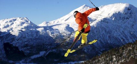 Vinterferie: Slik håper en vinterferien blir i Børsetlia, med sol og fine forhold.Arkiv: Øyvind Vadla
