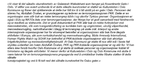 KRAFTIGE REAKSJONER: Innbyggerforslaget som ble sendt til kultur- og utdanningsutvalget i Oslo inneholdt en rekke underskrifter fra norsktyrkere og norsktyrkiske organisasjoner, ifølge kommunens eget notat.