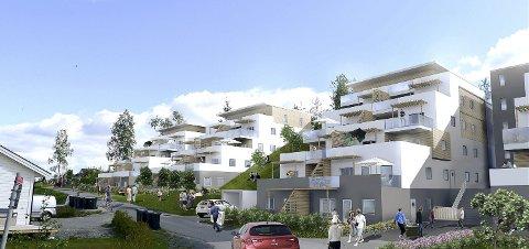 UTSETTES: Utbyggingen i Ullsvei skulle etter planen startet i disse dager. Nå skal fylkesmannen avgjøre saken.Tegn: Arkitektgruppen