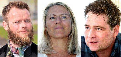 ULIKE SYN: Gunnar Nicolai Halvorsen, Monica Myrvold Berg og Tarald Braathen Ellingsen ser nokså ulikt på spørsmålet om det var rett for Nedre Eiker å slå seg sammen med Drammen og Svelvik.