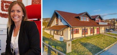 HAR TROEN: Megler Tone Viklem Olsen har tro på at dette bankbygget i Bjerkvik vil bli solgt om kort tid.
