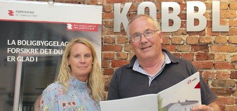 LOKALT: «No more Bulgaria», det er en lokal aktør KOBBL skal være, sier styreleder Leif Næss, her med økonomisjef Heidi Bjørnstad.FOTO: BÅRD ENGH