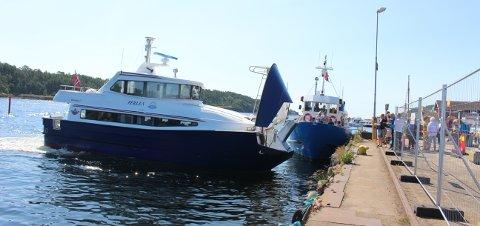 Passasjerbåten Perlen som er hjemmehørende i Kragerø, hadde anløp til Langesund sommeren 2019. Det var svært populært å ta Perlen fra Langesund til Jomfruland og Kragerø. Slik blir det ikke denne sommeren.