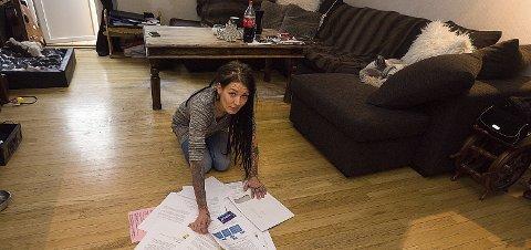 Fortvilet: Sandra Sigurdsdatter er lei av å betale til utleier leiligheten hun og datteren bor i. Mest av alt ønsker hun å eie sin egen bolig.foto: Ole Kr. Trana