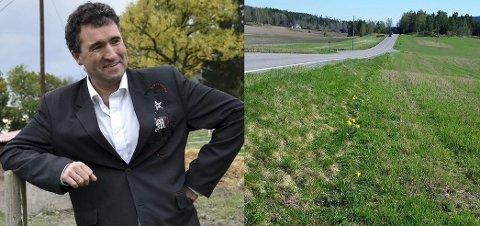 RENSKET FOR BLOMSTER: Petter Simonsen er forundret over at dette området er blitt rensket for tulipaner.