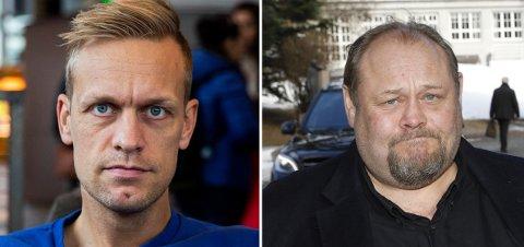 Mads Hansen (t.v.) har fått Se og Hør i vrangstrupen etter oppslaget om ham og familien hans. Bladets redaktør, Ulf André Andersen, tar det hele med ro.