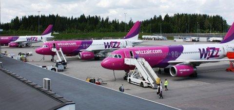 NÆRMER SEG NORWEGIAN: Wizz Air er i kraftig vekst. Bare på Torp har lavprisselskapet nå tolv ulike ruter.