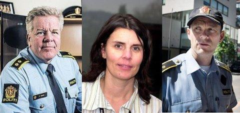 KANDIDATER: Frank Gran (t.v.), Siw Thokle og Geir Oustorp ønsker alle å bli den øverste sjefen på Sandefjord politistasjon.