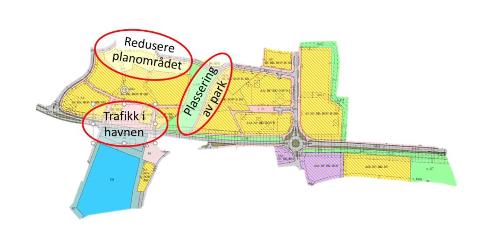 Tre sentrale tema i sentrumsplanen får nå sin prinsippavklaring før sentrumsplanen skal opp til andregangsbehandling etter høring.
