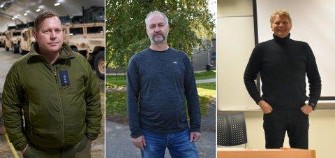 PÅ SØKERLISTA: Frank Haugdal (f.v.), Geir Morten Holum og Finn Åge Jakobsen er blant søkerne til jobben som distriktssjef Sivilforsvaret i Nord-Trøndelag.