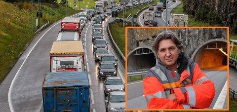 Trafikk: -Trafikksituasjonen er som forventet, sier Thomas Kalleberg.Foto: Terje Holm/ Lars Norsted