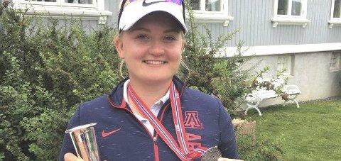Dobbelt sølv: Sandra Nordaas fra Drøbak, vant to NM-sølv i norgesmesterskapene denne sommeren. Foto: Privat
