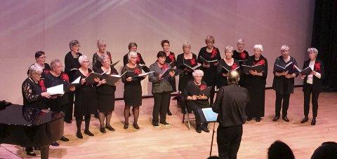 JUBILERENDE KOR: Tynset Damekor fyller 110 år i år, og holdt søndag sin jubileumskonsert. Foto: Tonje H. Løkken