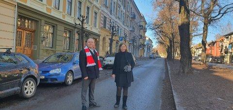 MAKTFORDELING: Lars Petter Solås og Camilla Wilhelmsen ønsker at bydelsutvalgene skal få mer å si for hvor det bygges sykkelveier.
