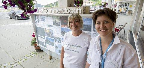 Siste etappe: 2015 var siste året Grete Stenersen og Hanne Barvik fikk drive med Sommerdagan i Meløy.Foto: Johan Votvik