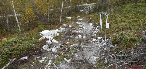 Kan bli lovlig: Polden Kystlag håper at Hamarøy kommune gjennom ny behandling vil godkjenne denne veitraseen.