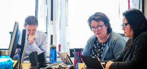 Enige: Ordfører Sigurd Stormo, rådmann Hege Sørlie og varaordfører Lisbeth Selstad Amundsen.Foto: Johan Votvik