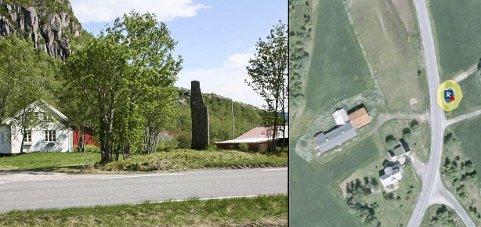 Kulturminner: Gravfeltet «Pila» ligger på motsatt side av der kulturminnene er avdekket ved fylkesvei 17.