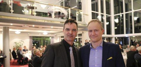 Millioner: Geir Wenberg (t.h.) i Wenberg fiskeoppdrett/Salten Aqua og Roger Øksheim fra Edelfarm, har brukt to millioner kr på oppussingen.