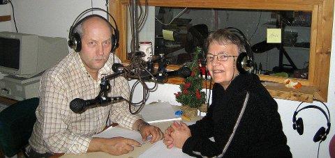 Radarpar: Idar Sørensen og Liv Edvardsen fra Hamarøy er blant flere «radarpar» som har gjort en stor innsats for lokalradioen.