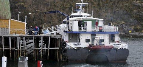 Krav: Hurtigbåtkaia på Skutvik må oppgraderes av Hamarøy kommune før den kan benyttes som liggekai for Nordlandsekspressen.