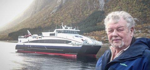 Siste anløp: Kaieier Reidar Leander Jensen fikk nok da fylkestinget la ned Nordværnes som anløpssted for NEX.Foto: Privat