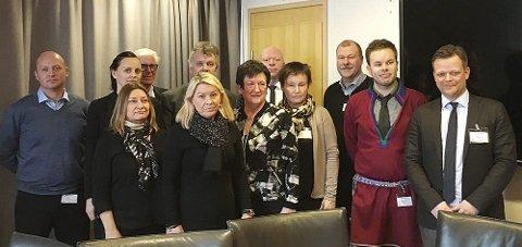 Møttes: Styringsgruppa for prosjektet på besøk hos statsråd Monica Mæland (H). foto: fylkesmannen i Nordland