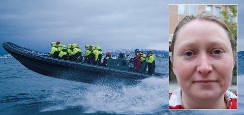 Leder Kaja Langvik-Hansen i Naturvernforbundet i Salten reagerer på Oslo-firmaet CompEdge sitt julebord i Salten.
