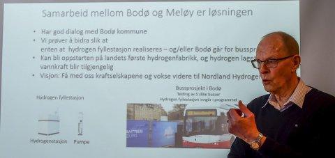 Nettverk: Meløy Utvikling-konsulent Finn Nordmo har til nå jobbet for hydrogen sammen med Bodø kommune. Foto: Johan Votvik
