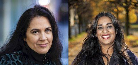 Sjefredaktør i BT Frøy Gudbrandsen og konstituert byrådsleder Lubna Jaffery.