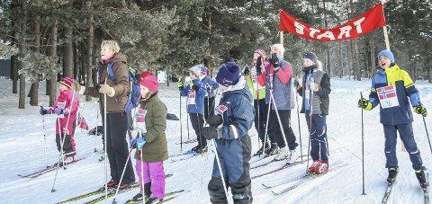 OL: Det var full konsentrasjon i startområdet ved Noresund skole, rett før startskuddet gikk i de noresundske olympiske leker.