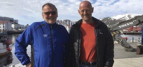 Bli med: Både Bengt Altmann, Jarl Tuv og flere fra Nordkapp og omegn turlag skal være med på etapper av turen og de gleder seg!