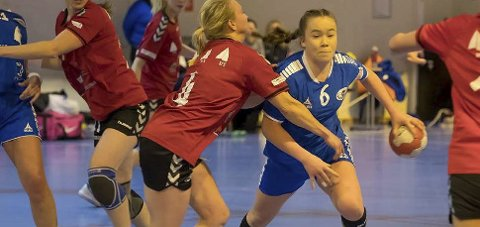 LANDSLAGET NESTE: Amanda Holmen Eriksen i aksjon. No er ho kalla inn til regional landslagssamling. FOTO: Cecilia Molander