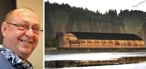 Rune Bortne er prosjektleiar for fotballhallen ved Lillevatnet. No skal han pensjonere seg. Illustrasjon: Ivest consult / foto: Dag Nesbø Frøyen