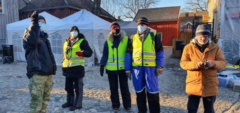 Dugnadsjengen hadde kledd på seg godt i kulden. Bildet er tatt av lederen selv- Jimmy Olsen.