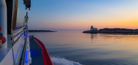 Det var idylliske forhold på for redningsskøyta på Hvaler fredag kveld.