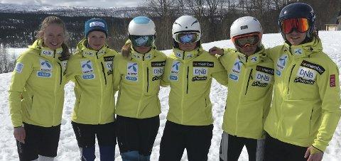 Deltok: Disse seks utøverne fra Narvik Slalåmklubb og Ankenes Alpinklubb representerte Norge under Ingemartrofeet 2018.