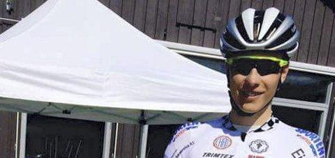 Vant norgescupen: Håkon Lunner Aalrust fra Asker, sykler for Glåmdal SK, vant i helga norgescup for junior. Privatfoto