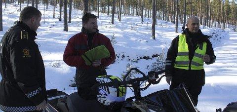 Kontroll: SNO ved Erik Ydse og politiet har hatt kontroller i scooterleden, og er fornøyd med resultatet. Foto: Kenneth Mellem