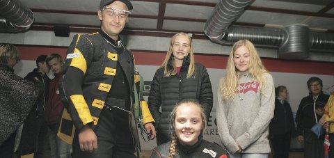 Laget: Sivert Opsahl Gjermshus, Oda Flikkerud, Benedicte C. Bergstrøm og Jenny Tovseth Vatne. FOTO. HENNING DANIELSEN