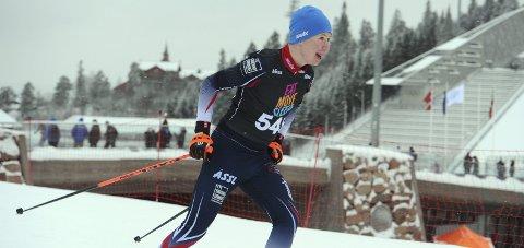 I NORGESTOPPEN: Kristian Meiningen Lien endte på en veldig sterk sjetteplass i Hovedlandsrennet i skiskyting fredag.