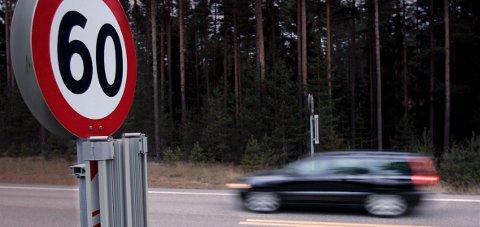 FORT: 103 km/t i 60-sona førte til førerkortbeslag i åtte måneder og 13.000 kroner i bot.ILLUSTRASJONSFOTO: FREDE Y. ERIKSEN