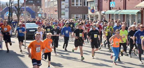 FOLKELIV: 1450 deltok i fjorårets Viggaløp.