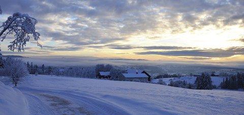 KALDT: Til helga er det meldt kaldt vær på Hadeland.