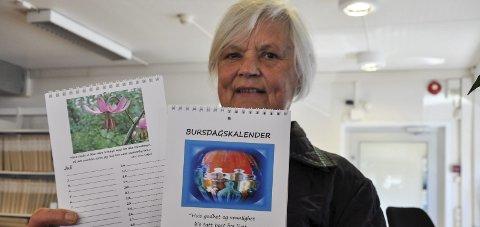 BURSDAGER: Nå kan du holde orden på bursdagene til slekt og venner med kalenderen Inga Lome har laget.