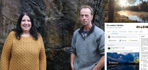 ADMINISTRATORER: Ellen Hansen og Bjørn Jensen administrerer den svært populære Facebook-gruppa «På rundtur i Halden».